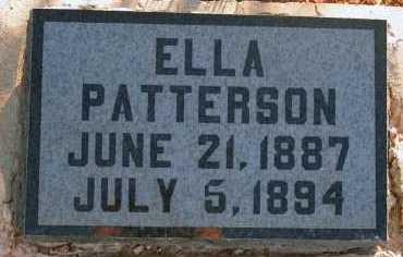 PATTERSON, ELLA - Apache County, Arizona   ELLA PATTERSON - Arizona Gravestone Photos