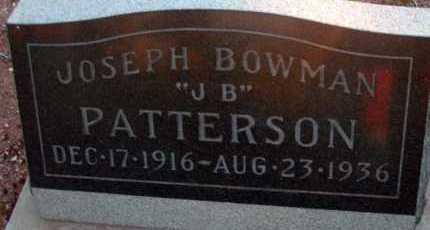 PATTERSON, JOSEPH BOWMAN - Apache County, Arizona   JOSEPH BOWMAN PATTERSON - Arizona Gravestone Photos