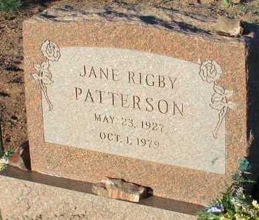 PATTERSON, JANE RIGBY - Apache County, Arizona | JANE RIGBY PATTERSON - Arizona Gravestone Photos