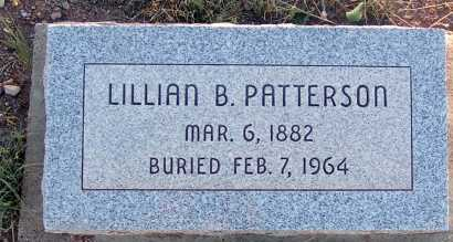 PATTERSON, LILLIAN B. - Apache County, Arizona | LILLIAN B. PATTERSON - Arizona Gravestone Photos