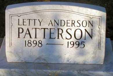PATTERSON, LETTY - Apache County, Arizona | LETTY PATTERSON - Arizona Gravestone Photos
