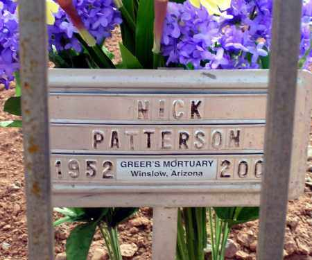 PATTERSON, NICHOLAS J. - Apache County, Arizona | NICHOLAS J. PATTERSON - Arizona Gravestone Photos