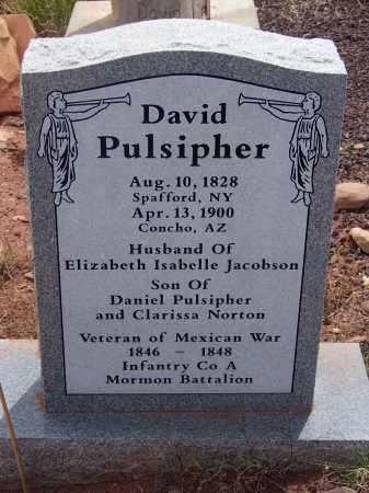 PULSIPHER, DAVID - Apache County, Arizona | DAVID PULSIPHER - Arizona Gravestone Photos