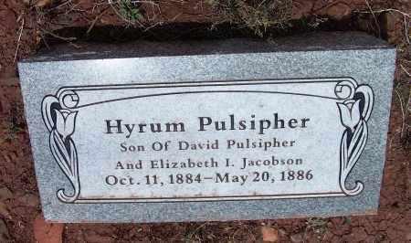 PULSIPHER, HYRUM - Apache County, Arizona   HYRUM PULSIPHER - Arizona Gravestone Photos