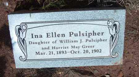 PULSIPHER, INA ELLEN - Apache County, Arizona   INA ELLEN PULSIPHER - Arizona Gravestone Photos