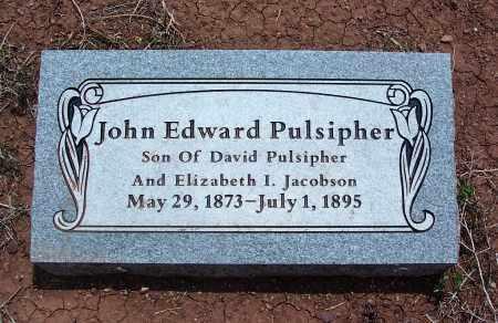 PULSIPHER, JOHN EDWARD - Apache County, Arizona | JOHN EDWARD PULSIPHER - Arizona Gravestone Photos