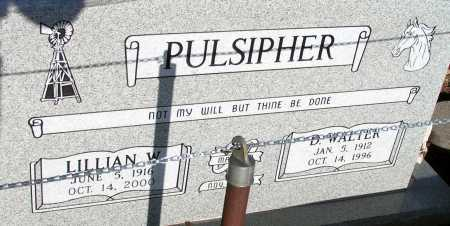 PULSIPHER, LILLIAN W. - Apache County, Arizona | LILLIAN W. PULSIPHER - Arizona Gravestone Photos