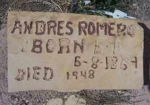 ROMERO, ANDRES - Apache County, Arizona   ANDRES ROMERO - Arizona Gravestone Photos