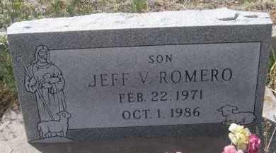 ROMERO, JEFF V - Apache County, Arizona   JEFF V ROMERO - Arizona Gravestone Photos