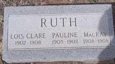 RUTH, PAULINE - Apache County, Arizona | PAULINE RUTH - Arizona Gravestone Photos