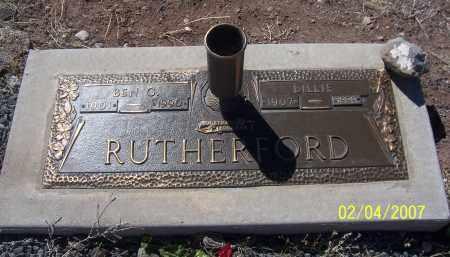 RUTHERFORD, BEN C. - Apache County, Arizona | BEN C. RUTHERFORD - Arizona Gravestone Photos