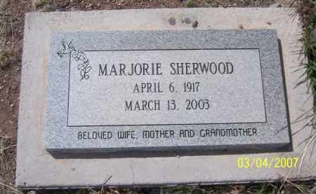 SHERWOOD, MARJORIE - Apache County, Arizona | MARJORIE SHERWOOD - Arizona Gravestone Photos