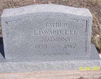 SIMMONS, EDWARD LEE - Apache County, Arizona | EDWARD LEE SIMMONS - Arizona Gravestone Photos