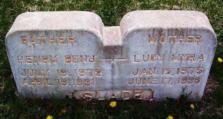 SLADE, HENRY BENJAMIN - Apache County, Arizona | HENRY BENJAMIN SLADE - Arizona Gravestone Photos