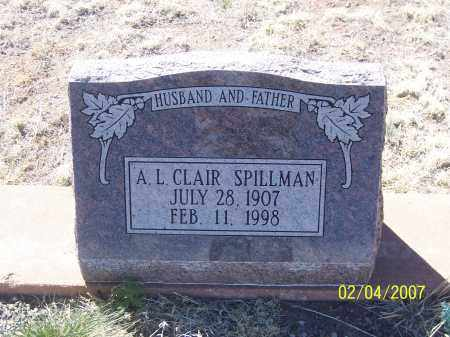 SPILLMAN, A.L. CLAIR - Apache County, Arizona | A.L. CLAIR SPILLMAN - Arizona Gravestone Photos