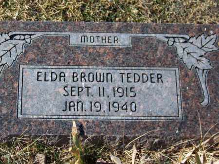 BROWN TEDDER, ELDA - Apache County, Arizona | ELDA BROWN TEDDER - Arizona Gravestone Photos