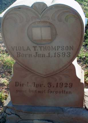 THOMPSON, VIOLA T. - Apache County, Arizona | VIOLA T. THOMPSON - Arizona Gravestone Photos