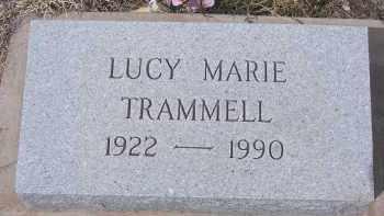 TRAMMELL, LUCY MARIE - Apache County, Arizona | LUCY MARIE TRAMMELL - Arizona Gravestone Photos