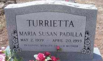 PADILLA TURRIETTA, MARIA SUSAN - Apache County, Arizona | MARIA SUSAN PADILLA TURRIETTA - Arizona Gravestone Photos