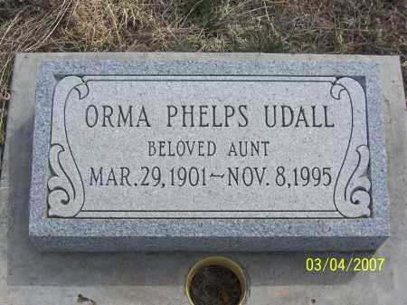 PHELPS UDALL, ORMA - Apache County, Arizona | ORMA PHELPS UDALL - Arizona Gravestone Photos