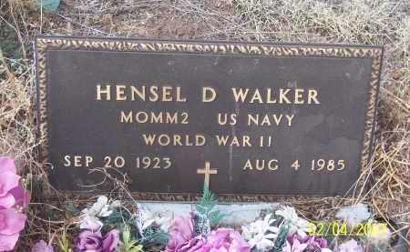 WALKER, HENSEL D - Apache County, Arizona | HENSEL D WALKER - Arizona Gravestone Photos