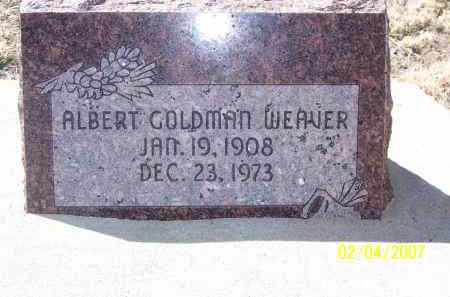 WEAVER, ALBERT GOLDMAN - Apache County, Arizona   ALBERT GOLDMAN WEAVER - Arizona Gravestone Photos