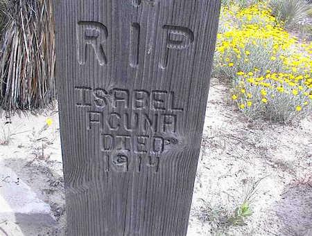 ACUNA, ISABEL - Cochise County, Arizona   ISABEL ACUNA - Arizona Gravestone Photos