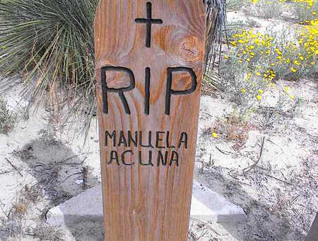 ACUNA, MANUELA - Cochise County, Arizona | MANUELA ACUNA - Arizona Gravestone Photos