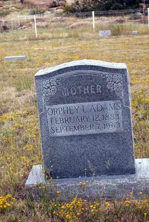 ADAMS, ORPHY L. - Cochise County, Arizona | ORPHY L. ADAMS - Arizona Gravestone Photos