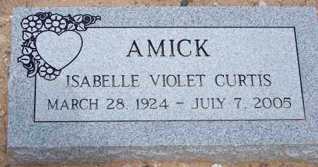 AMICK, ISABELLE VIOLET - Cochise County, Arizona   ISABELLE VIOLET AMICK - Arizona Gravestone Photos