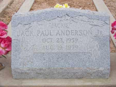 ANDERSON, JACK PAUL JR. - Cochise County, Arizona | JACK PAUL JR. ANDERSON - Arizona Gravestone Photos