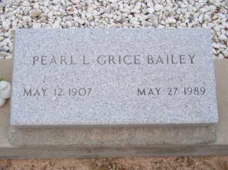 GRICE BAILEY, PEARL L - Cochise County, Arizona | PEARL L GRICE BAILEY - Arizona Gravestone Photos