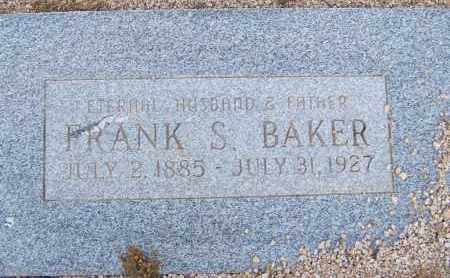 BAKER, FRANK S. - Cochise County, Arizona | FRANK S. BAKER - Arizona Gravestone Photos