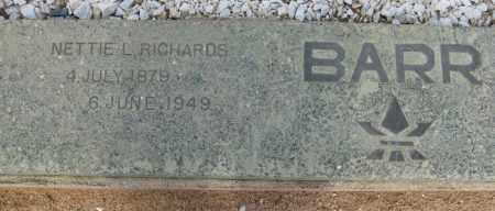 BARR, NETTIE L. RICHARDS - Cochise County, Arizona   NETTIE L. RICHARDS BARR - Arizona Gravestone Photos