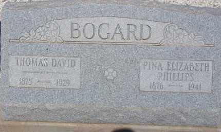 PHILLIPS BOGARD, PINA ELIZABETH - Cochise County, Arizona | PINA ELIZABETH PHILLIPS BOGARD - Arizona Gravestone Photos