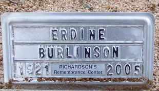 BURLINSON, ERDINE - Cochise County, Arizona | ERDINE BURLINSON - Arizona Gravestone Photos