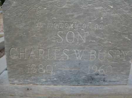 BUSBY, CHARLES W. - Cochise County, Arizona   CHARLES W. BUSBY - Arizona Gravestone Photos