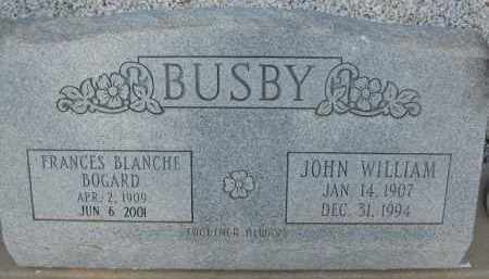 BUSBY, JOHN WILLIAM - Cochise County, Arizona | JOHN WILLIAM BUSBY - Arizona Gravestone Photos