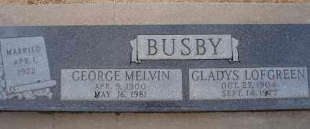 BUSBY, GLADYS LOFGREEN - Cochise County, Arizona | GLADYS LOFGREEN BUSBY - Arizona Gravestone Photos