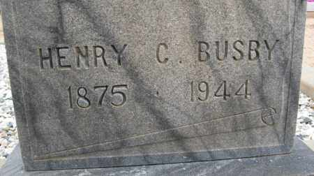 BUSBY, HENRY C. - Cochise County, Arizona | HENRY C. BUSBY - Arizona Gravestone Photos