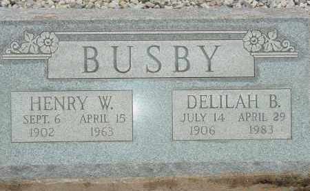 BUSBY, HENRY W. - Cochise County, Arizona | HENRY W. BUSBY - Arizona Gravestone Photos