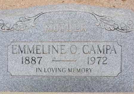 CAMPA, EMMELINE O. - Cochise County, Arizona | EMMELINE O. CAMPA - Arizona Gravestone Photos