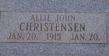CHRISTENSEN, ALLIE JOHN - Cochise County, Arizona | ALLIE JOHN CHRISTENSEN - Arizona Gravestone Photos