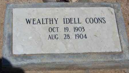 COONS, WEALTHY IDELL - Cochise County, Arizona | WEALTHY IDELL COONS - Arizona Gravestone Photos