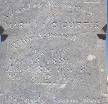 CURTIS, MARILLA G. - Cochise County, Arizona   MARILLA G. CURTIS - Arizona Gravestone Photos