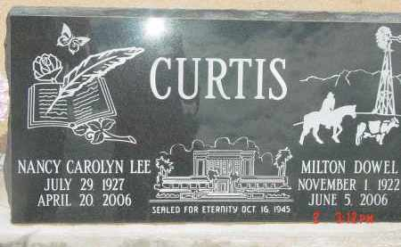 CURTIS, MILTON DOWEL - Cochise County, Arizona | MILTON DOWEL CURTIS - Arizona Gravestone Photos