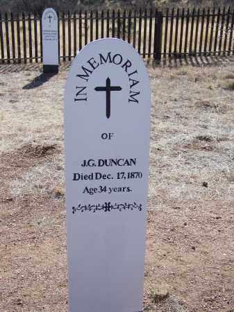 DUNCAN, J G - Cochise County, Arizona | J G DUNCAN - Arizona Gravestone Photos