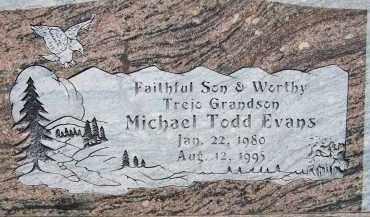 EVANS, MICHAEL TODD - Cochise County, Arizona   MICHAEL TODD EVANS - Arizona Gravestone Photos