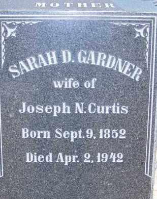 CURTIS, SARAH D. GARDNER - Cochise County, Arizona | SARAH D. GARDNER CURTIS - Arizona Gravestone Photos