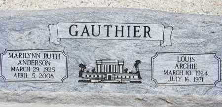 GAUTHIER, LOUIS ARCHIE - Cochise County, Arizona | LOUIS ARCHIE GAUTHIER - Arizona Gravestone Photos